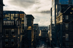 Glasgow, Scotland, United Kingdom. Stree in down town Glasgow in the morning Royalty Free Stock Images