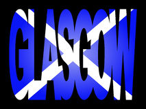 Glasgow with Scottish flag Royalty Free Stock Photos