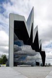GLASGOW, SCOZIA - 1° luglio 2013 la parte anteriore del museo della riva del fiume il 1° luglio 2013 a Glasgow, Scozia il museo de Fotografia Stock