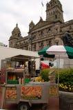Glasgow se transforma en una película fijada para la guerra mundial Z fotografía de archivo libre de regalías