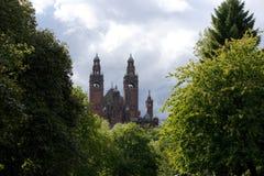 Glasgow, Skottland, 8th September 2013, Kelvingroven Art Gallery och museet n?ra Kelvingrove parkerar, Argyle Street arkivfoto