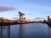Glasgow Skyline royalty-vrije stock afbeeldingen