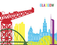 Glasgow skyline pop Royalty Free Stock Image