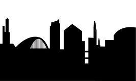 Glasgow Skyline Scotland illustrazione di stock