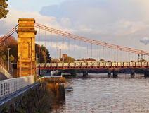 Glasgow Suspension Bridge Royalty Free Stock Images