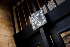 Glasgow, Szkocja, UK, Wrzesień 2013, Charles Rennie Mackintosh Glasgow sztuka szkoła zanim katastrofalny ogień który fotografia royalty free