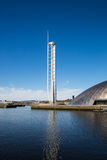 Glasgow Tower, Fluss Clyde, Glasgow, Schottland, Großbritannien Lizenzfreie Stockbilder