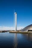 Glasgow Tower, rivière Clyde, Glasgow, Ecosse, R-U images libres de droits