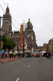 Glasgow is transformed into a film set for World War Z Royalty Free Stock Images