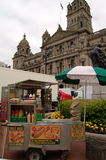 Glasgow is transformed into a film set for World War Z Royalty Free Stock Photography