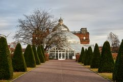 People`s Palace located in the popular Glasgow Green Park serves as a winter garden, a cafe and a museum. Glasgow, UK - 1 December 2017 : People`s Palace Royalty Free Stock Photo