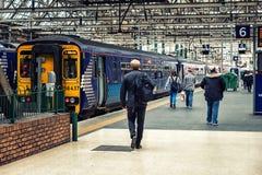 Glasgow Train Station stock images