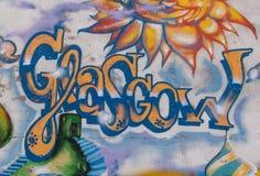 GLASGOW UK, Juni 2014: Gatakonst i Glasgow West End Arkivbilder