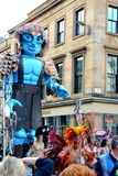 Big Man Walking, Merchant City Festival, Glasgow Stock Photos