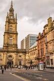 Glasgow ulicy scena Zdjęcia Royalty Free