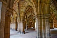 Glasgow University. Arches in Glasgow University, Scotland Royalty Free Stock Photo