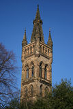 Glasgow university. Ornate tower with spire of Glasgow university Royalty Free Stock Images