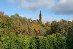 Glasgow University. Seen from Kelvingrove Royalty Free Stock Photos
