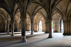 Glasgow University. Arches in Glasgow University building stock image
