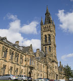 Glasgow University. Bell tower and entrance stock photo