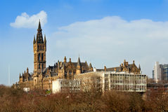 Glasgow University building. Glasgow University with the modern School of engineering building Stock Photos