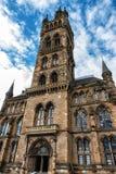 Glasgow University& x27;s architectual details. Glasgow University& x27;s towers built in the 1870s in the Gothic revival style Stock Photo