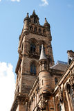 Glasgow University's bell tower. Built in the 1870s in the Gothic revival style Stock Photography