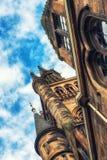 Glasgow University`s architectual details. Glasgow University`s towers built in the 1870s in the Gothic revival style Stock Photography