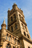 Glasgow University's towers. A Glasgow landmark built in the 1870s in the Gothic revival style. Designed by Sir George Gilbert Scott Royalty Free Stock Image