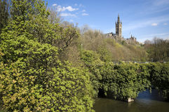 Glasgow University tower Stock Image