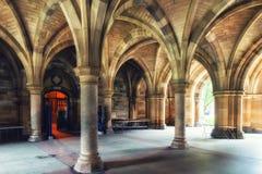 Glasgow uniwersyteta Cloisters Zdjęcie Stock