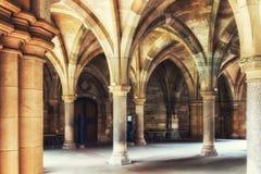Glasgow uniwersyteta Cloisters Obraz Stock