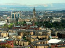 Glasgow Westend from viewing tower Royalty Free Stock Image