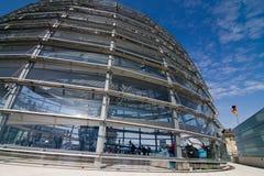 Glashaube des Reichstag Lizenzfreies Stockbild