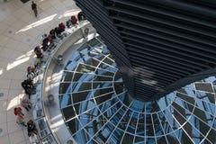 Glashaube des Reichstag Stockfotografie