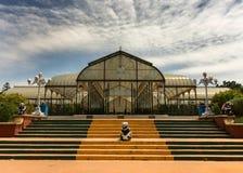 Glashaus bei Lal Bagh Botanical Garden in Bengaluru. Stockfotografie