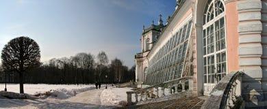 Glashaus in Kuskovo stockbild