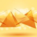 Glashintergrund der pyramide 3d Lizenzfreies Stockfoto