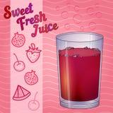 Glashoogtepunt van rode vloeistof, sap, wijn Royalty-vrije Stock Foto