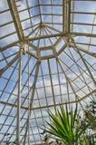 Glashuset taklägger med blåttskyen Royaltyfri Fotografi