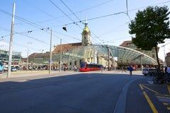 Glasig-glänzende Überdachung in Bern in der Schweiz Lizenzfreies Stockbild