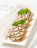 Glasig-glänzende Minikuchen Stockbild