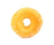 Glasig-glänzender Donut auf Weiß, zuckerhaltiger Donut lokalisiert auf einem weißen backgrou lizenzfreies stockbild