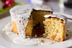 Glasig-glänzender Kuchen Stockfotos
