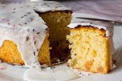 Glasig-glänzender Kuchen Stockfotografie