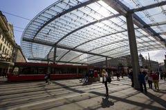 Glasig-glänzende Überdachung in Bern, die Schweiz Lizenzfreie Stockfotografie