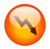 Glasige rote Verlust-Ikone Lizenzfreie Stockfotografie