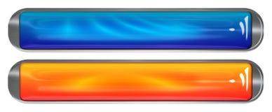 Glasige und Metallfahnen Stockfoto
