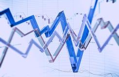 Glasiger Devisen-Handel Stockfotografie
