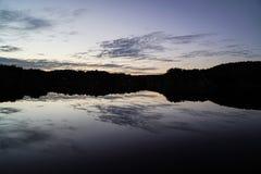 Glasiger See Stockbild